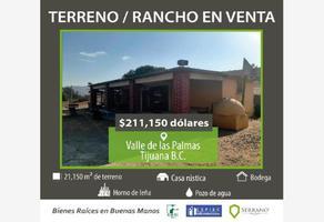Foto de rancho en venta en el carricito kilometro 28.9, ciudad valle de las palmas, tijuana, baja california, 0 No. 01