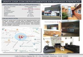 Foto de casa en venta en emiliano zapata 61, santiago atepetlac, gustavo a. madero, df / cdmx, 0 No. 01