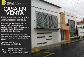 Foto de casa en venta en emilio carranza 608, jesús y san juan, apizaco, tlaxcala, 0 No. 01