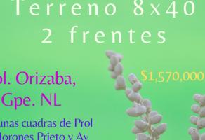 Foto de terreno habitacional en venta en Orizaba, Guadalupe, Nuevo León, 21240573,  no 01