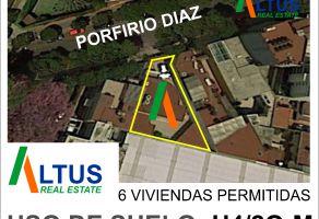 Foto de terreno habitacional en venta en Del Valle Centro, Benito Juárez, DF / CDMX, 19348151,  no 01