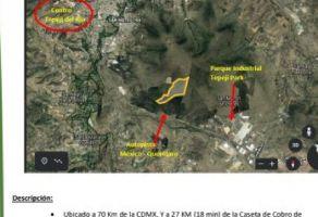 Foto de terreno habitacional en venta en Lomas de la Cantera, Tepeji del Río de Ocampo, Hidalgo, 20551243,  no 01