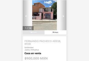 Foto de casa en venta en fernando pacheco 8939, solidaridad infonavit, juárez, chihuahua, 0 No. 01