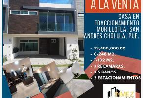 Foto de casa en venta en fraccionamiento morillotla 1, morillotla, san andrés cholula, puebla, 0 No. 01