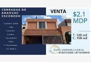 Foto de casa en venta en fresno 809, cerradas de anáhuac 1er sector, general escobedo, nuevo león, 9189219 No. 01