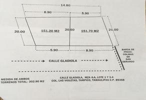 Foto de terreno habitacional en venta en gladiola , las violetas, tampico, tamaulipas, 5201523 No. 01
