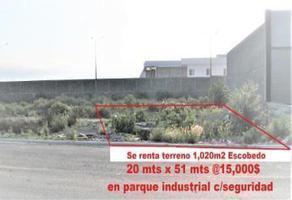 Foto de terreno industrial en renta en  , gral. escobedo centro, general escobedo, nuevo león, 17972465 No. 01