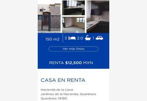 Foto de casa en renta en hacienda de la llave 1, jardines de la hacienda, querétaro, querétaro, 0 No. 01