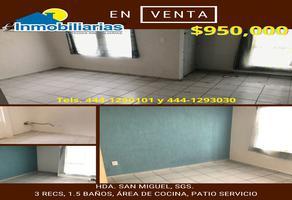 Foto de casa en venta en hacienda la ventilla 344, hacienda san miguel, soledad de graciano sánchez, san luis potosí, 21888705 No. 01