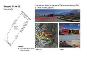 Foto de terreno habitacional en venta en herlinda de la cruz 155 , maría de león, saltillo, coahuila de zaragoza, 15159184 No. 01