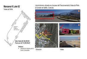 Foto de terreno comercial en venta en herlinda de la cruz , maría de león, saltillo, coahuila de zaragoza, 16094707 No. 01