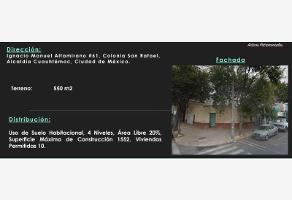 Foto de terreno habitacional en venta en ignacio manuel altamirano 61, san rafael, cuauhtémoc, df / cdmx, 9904581 No. 01
