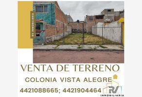 Foto de terreno habitacional en venta en jose antonio triada , vista alegre, querétaro, querétaro, 0 No. 01
