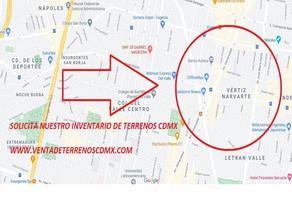 Foto de terreno habitacional en venta en jose maria 30, vertiz narvarte, benito juárez, df / cdmx, 0 No. 01
