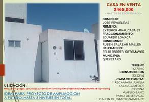 Foto de casa en venta en jose revueltas 4840, eduardo loarca, querétaro, querétaro, 0 No. 01