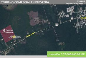 Foto de terreno comercial en venta en kilometro 200, mexico 307 , tulum centro, tulum, quintana roo, 11636749 No. 01