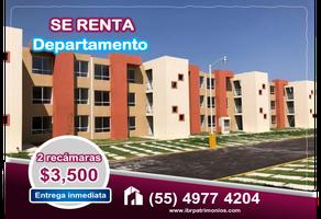 Foto de departamento en renta en  , la cañada, tecámac, méxico, 16182601 No. 01