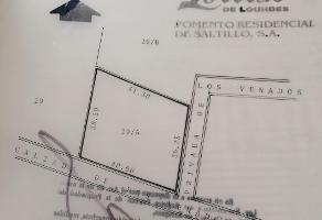 Foto de terreno habitacional en venta en  , lomas de lourdes, saltillo, coahuila de zaragoza, 0 No. 01