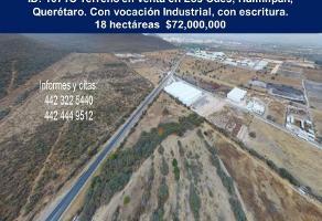 Foto de terreno industrial en venta en los cués 00, los candiles, corregidora, querétaro, 0 No. 01