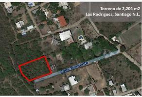 Foto de terreno habitacional en venta en los rodriguez , las huertas, santiago, nuevo león, 0 No. 01