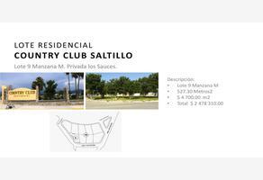 Foto de terreno habitacional en venta en manzana m lote 9, country club, saltillo, coahuila de zaragoza, 15351109 No. 01