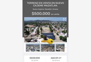 Foto de terreno comercial en venta en misioneros yaquis 0, nuevo cajeme, mazatlán, sinaloa, 19219216 No. 01