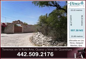 Foto de terreno habitacional en venta en morelos 1, ejido los pérez, ezequiel montes, querétaro, 17562504 No. 01