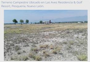 Foto de terreno comercial en venta en paseo de las gaviotas 20, las aves residencial and golf resort, pesquería, nuevo león, 13361230 No. 01