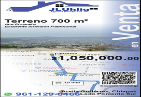 Foto de terreno habitacional en venta en pecha , el magueyito, tuxtla gutiérrez, chiapas, 14121168 No. 01