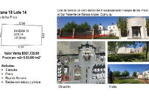 Foto de terreno habitacional en venta en pino verde 1 , parajes de los pinos, ramos arizpe, coahuila de zaragoza, 0 No. 01