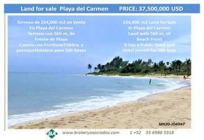 Foto de terreno comercial en venta en playa , playa del carmen, solidaridad, quintana roo, 16857612 No. 01