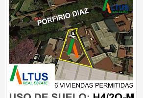 Foto de terreno habitacional en venta en porfirio diaz 193, del valle norte, benito juárez, df / cdmx, 0 No. 01