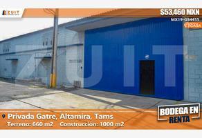 Foto de bodega en renta en privada gatre 609, tampico altamira sector 2, altamira, tamaulipas, 13285782 No. 01