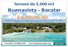 Foto de terreno comercial en venta en pueblo buenavista , buenavista, bacalar, quintana roo, 16550835 No. 01