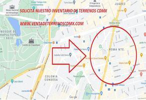 Foto de terreno habitacional en venta en roma 30, roma norte, cuauhtémoc, df / cdmx, 0 No. 01