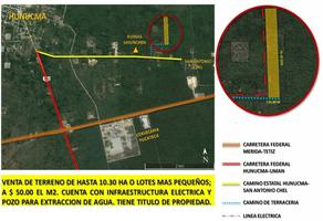 Foto de terreno habitacional en venta en  , san antonio chel, hunucmá, yucatán, 18408562 No. 01