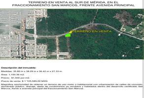 Foto de terreno habitacional en venta en  , san marcos nocoh, mérida, yucatán, 0 No. 01