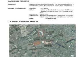 Foto de terreno habitacional en venta en san mateo nopala , san mateo nopala, naucalpan de juárez, méxico, 0 No. 01