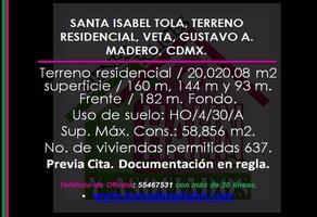Foto de terreno habitacional en venta en  , santa isabel tola, gustavo a. madero, df / cdmx, 10908747 No. 01