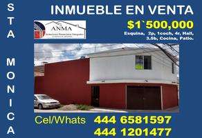 Foto de casa en venta en santa juana de arco 165, benigno arriaga, san luis potosí, san luis potosí, 18697544 No. 01