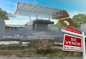 Foto de terreno habitacional en venta en senda del amor , milenio iii fase a, querétaro, querétaro, 14368836 No. 01