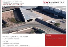 Foto de nave industrial en venta en sierra de la capellana , la cuesta 1, juárez, chihuahua, 17939411 No. 01