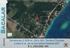 Foto de terreno comercial en venta en s/n , aarón merino, bacalar, quintana roo, 0 No. 01