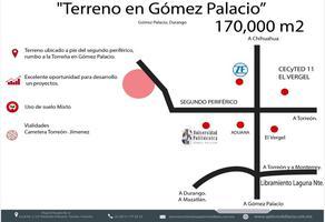 Foto de terreno comercial en venta en s/n , gómez palacio centro, gómez palacio, durango, 5951997 No. 01