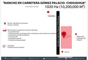 Foto de rancho en venta en s/n , gómez palacio centro, gómez palacio, durango, 8511357 No. 01