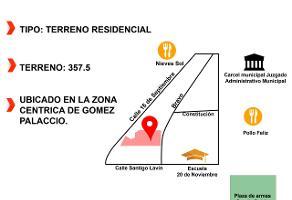 Foto de terreno habitacional en venta en s/n , la central, gómez palacio, durango, 12464835 No. 01