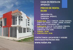 Foto de casa en renta en toltecapa esquina cañaverales , zaragoza, apizaco, tlaxcala, 19467425 No. 01