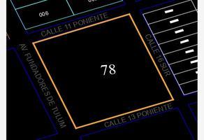 Foto de terreno comercial en venta en ubicación: sobre avenida fundadores de tulum entre calles 11 y 13 poniente manzana 78, la veleta, tulum, quintana roo, 0 No. 01