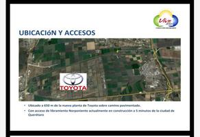 Foto de terreno industrial en venta en ubicado a 650 mts de la planta de toyota 1, industrial la montaña, querétaro, querétaro, 5585193 No. 01