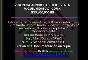 Foto de edificio en venta en  , veronica anzures, miguel hidalgo, df / cdmx, 10892036 No. 01